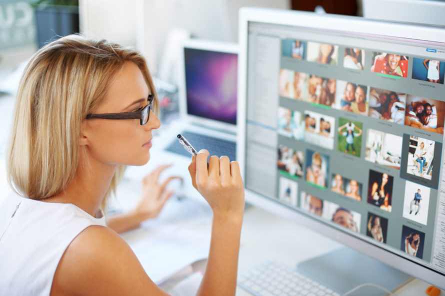Photograph of Female Website Designer