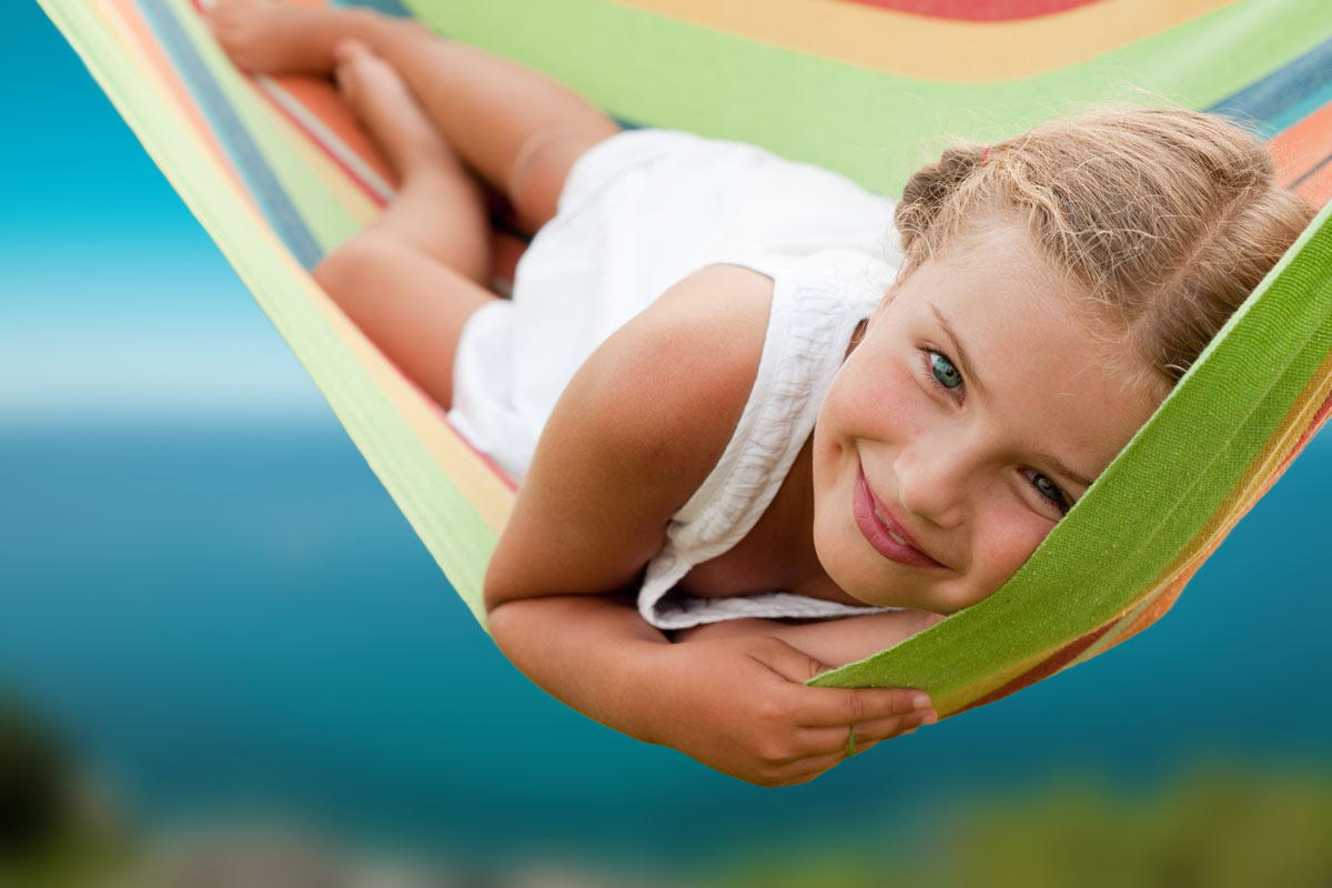 Summer Time Girl On Hammock