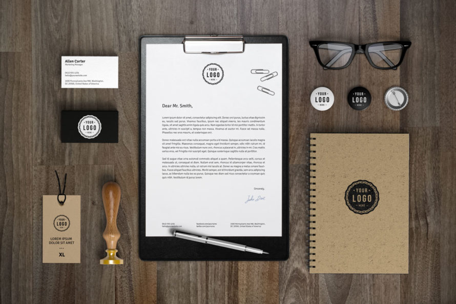 Corporate Desk Logo and Branding Designed Package