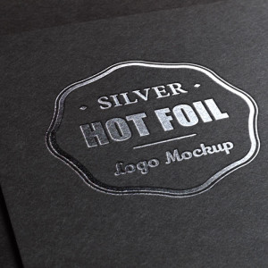 Logo design Foil Mock up