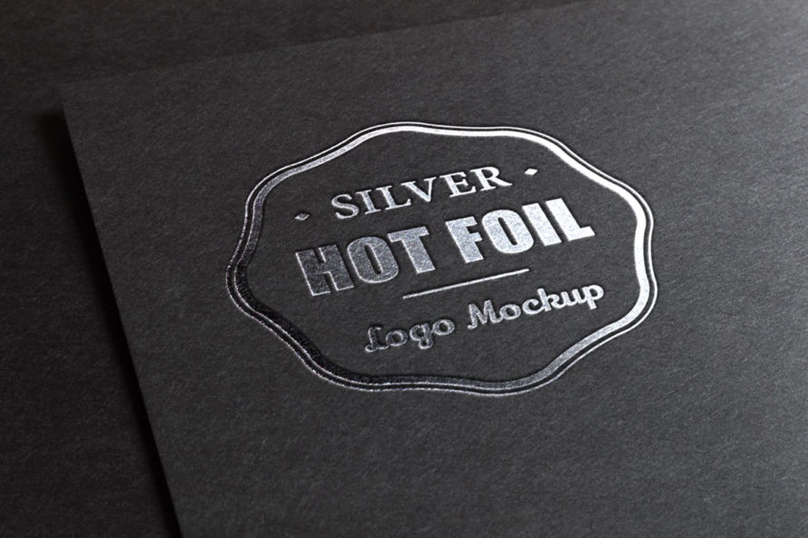 Logo design Foil Mock up