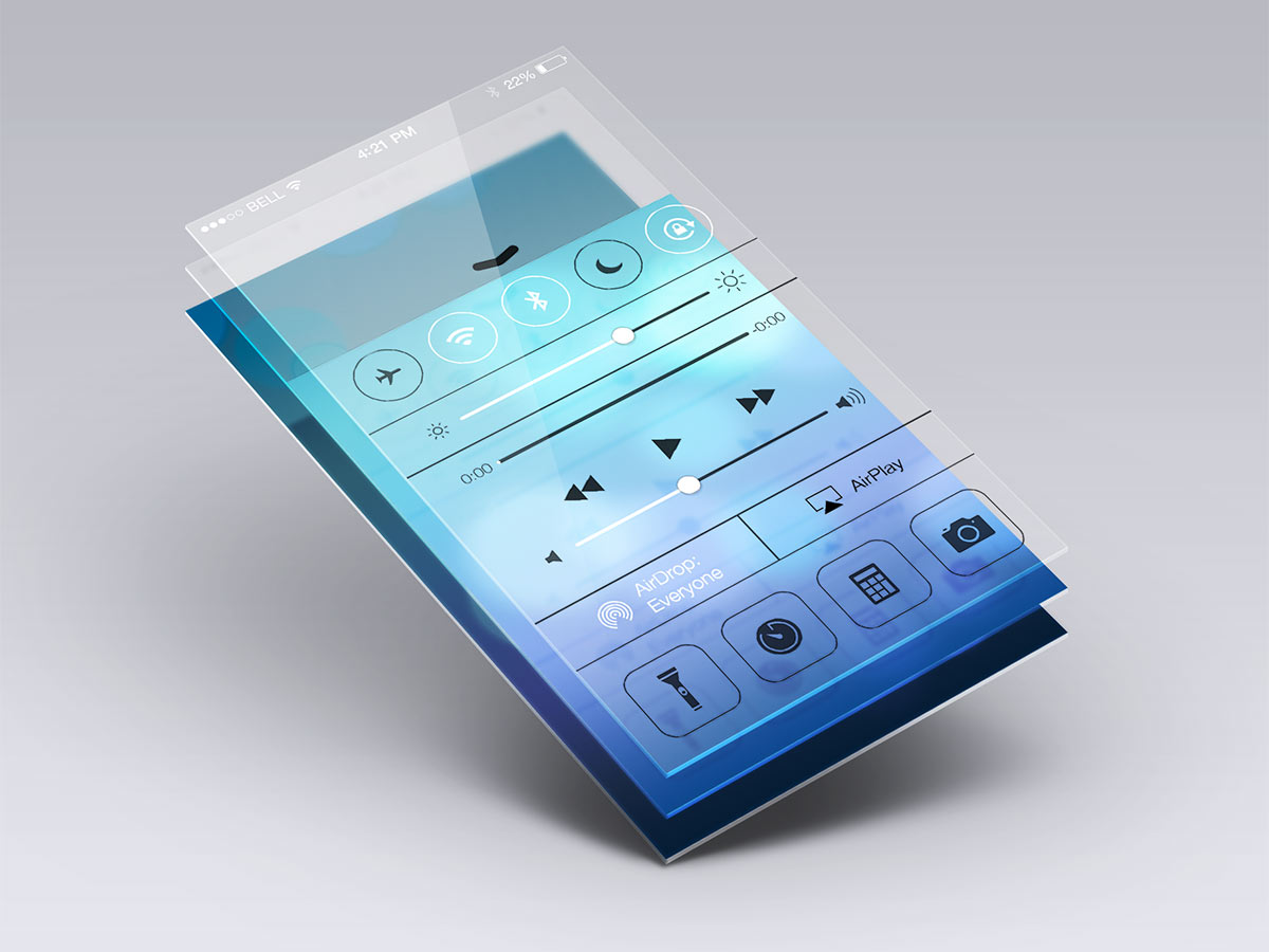 Mobile App Design Smartphone