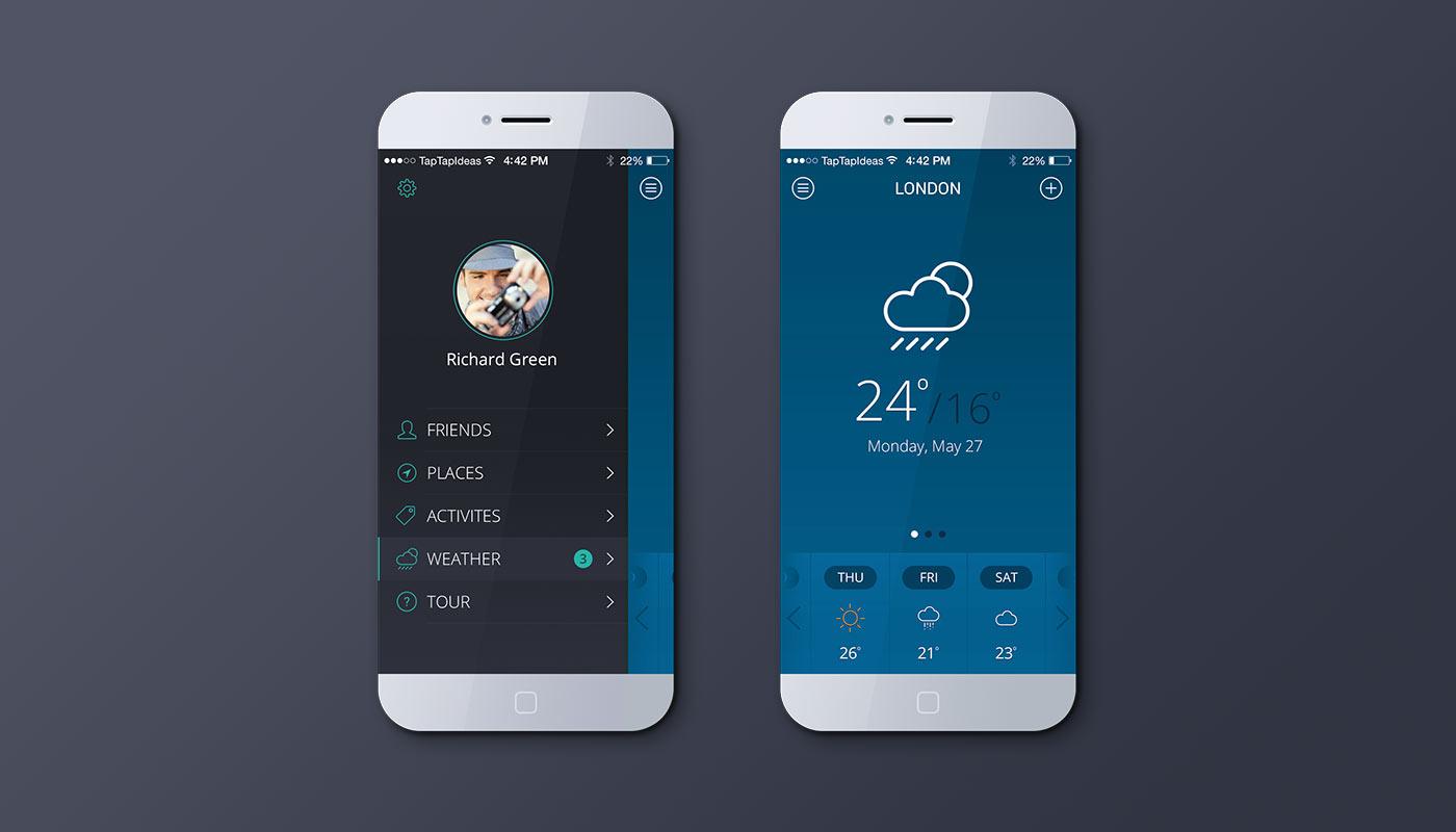 Mobile App Blue Color Version