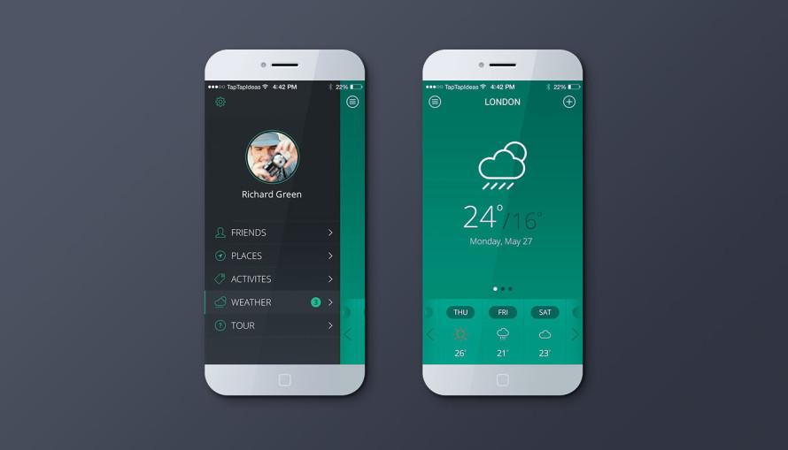 Mobile App Green Color Version