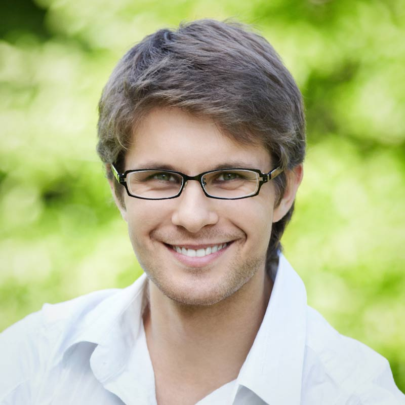Young Male With Glasses Photo