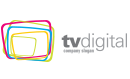 TV Digital Tri Colored Squares Logo Small Sized