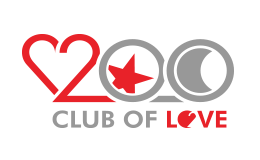 Two Hundred Logo Club Of Love Text