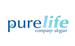 Pure Life Company Slogan Light and Dark Blue