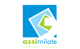 Assimilate Square Shape Logo