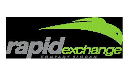 Rapid Exchange Company Slogan Sleek Style Green Logo