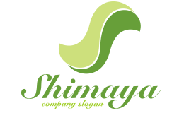 Shimaya Green Curved Logo With Letter S