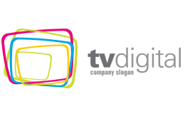 TV Digital Tri Colored Squares Logo