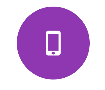 Smart Phone Graphic On Purple
