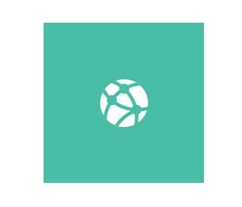 Round design on turquoise circle