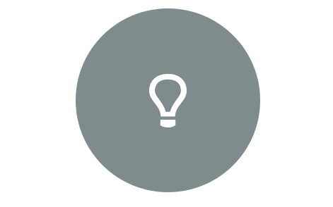 Light bulb on blue circle